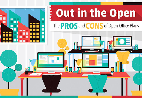 Infographic The Pros Cons Of Open Office Plans