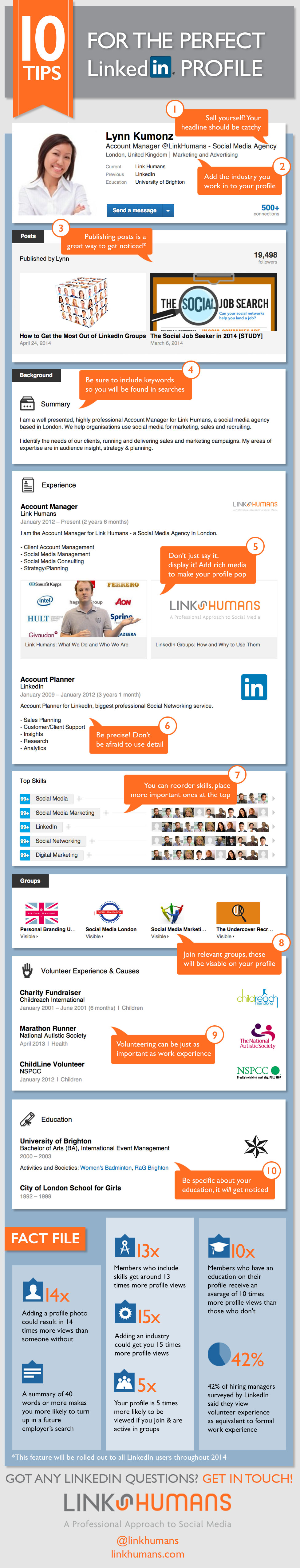 Infographic: 10 Tips To Craft Your Perfect LinkedIn ...