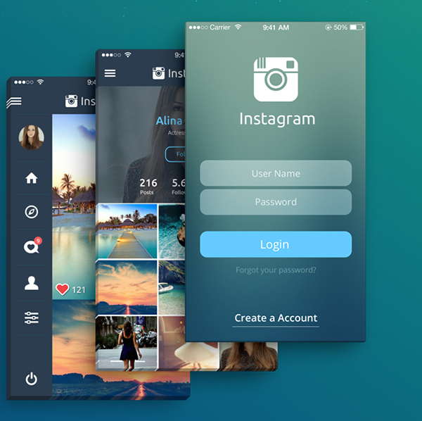 Mobile App Home Screen Redesign: An Instagram Redesign Concept That Shows Your Photographs