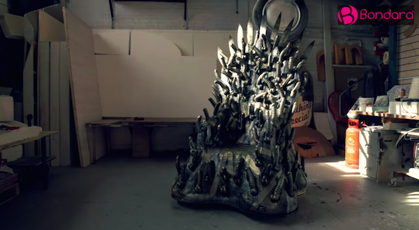 A Full Sized Iron Throne From Game Of Thrones Made With