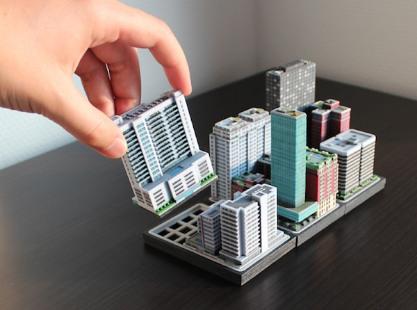 Build miniature towns with 3d printed city buildings that for Miniature architecture