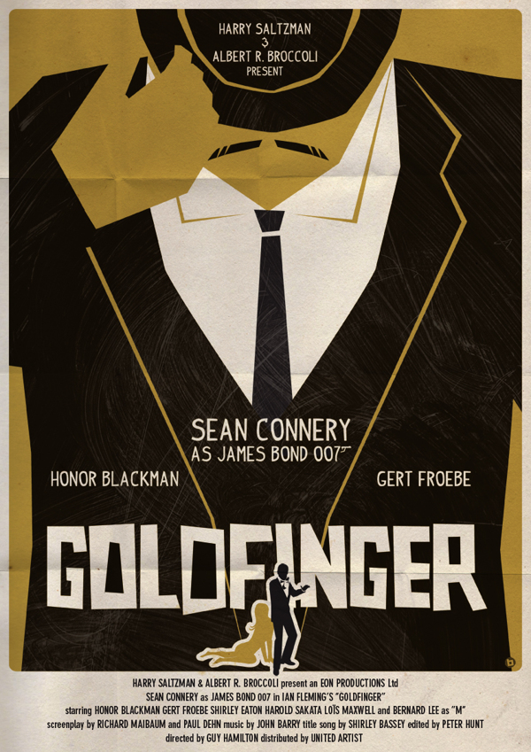 James Bond Movie Posters Fantastically Reimagined In The