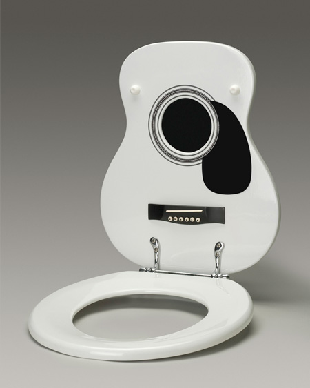 Funny Musical Toilet Seats Shaped Like Guitars Grand