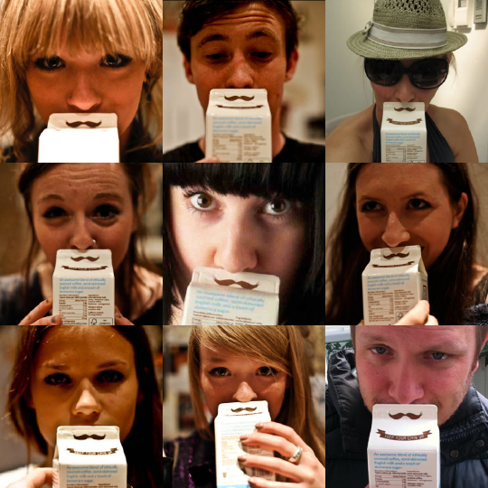 This Fun, Cheerful Coffee Carton Design Will Put A Mustache On Your