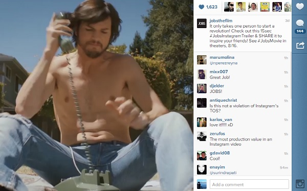 The First 'Movie Trailer On Instagram': Ashton Kutcher's ...