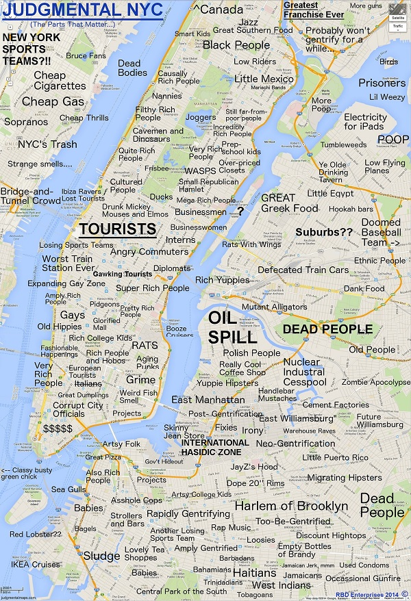 Funny Judgmental Maps That Poke Fun At Stereotypes Found In US - Us cities map