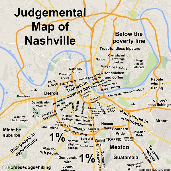 Funny Judgmental Maps That Poke Fun At Stereotypes Found