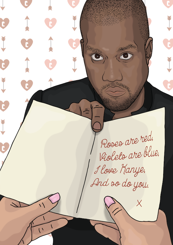 Hilarious Valentine's Day Cards Let Kanye West Deliver Love Messages Mesmerizing Funny Quotes For Valentines Day Cards