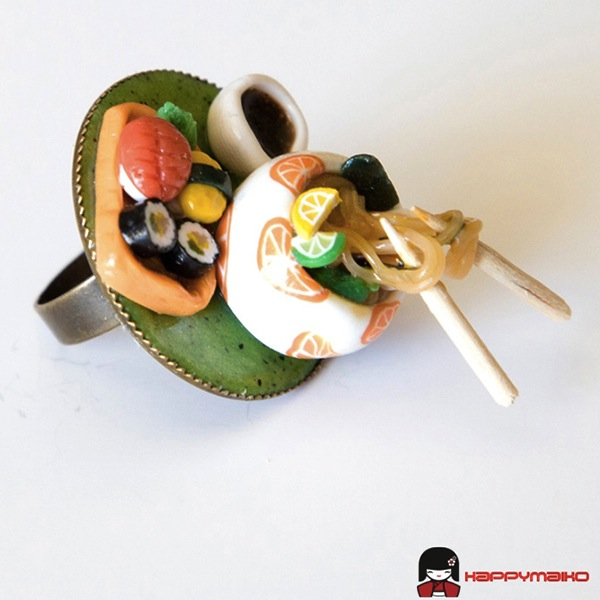 Japanese Food Inspired Rings Cute Enough To Eat