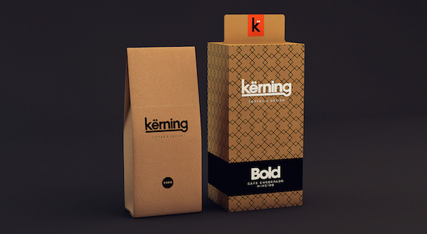 K Rning Typography Inspired Packaging Of A Coffee Brand