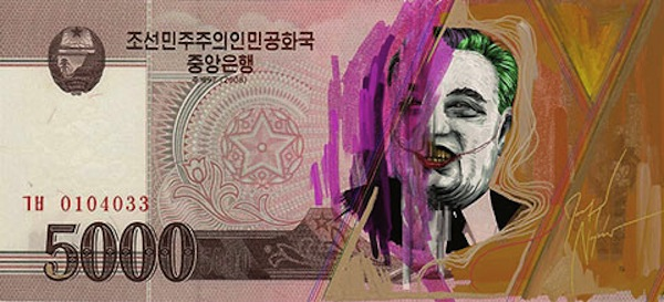 On Defaced North Korean Money, 'Great Leader' As Comic Book Villains