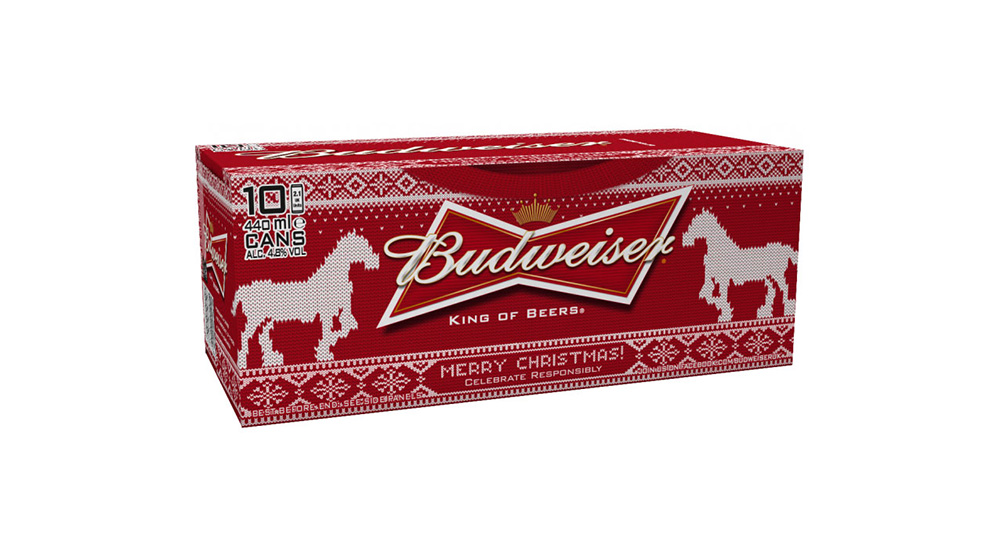 budweiser makes christmas sweaters with tweet powered knitting machine designtaxicom