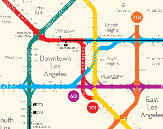 Redesigned Highway Maps Using Subway Maps As Inspiration