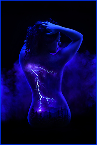 Beautiful Fluorescent Bodyscapes Captured In Black Light