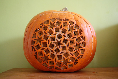 An awesome jack o lantern laser cut with a beautiful