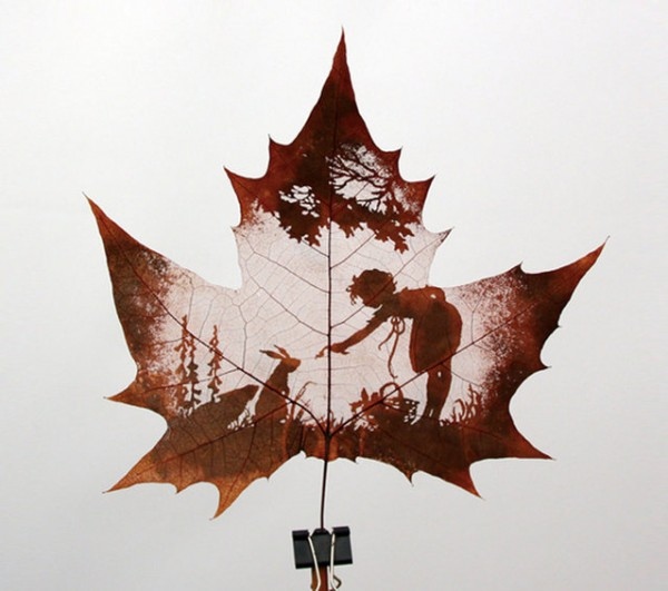 Leaf art made from paper cutting techniques designtaxi