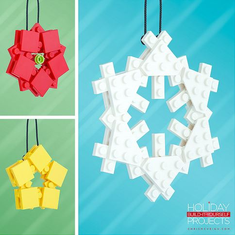 Wonderful DIY LEGO Christmas Ornaments That You Can Assemble At