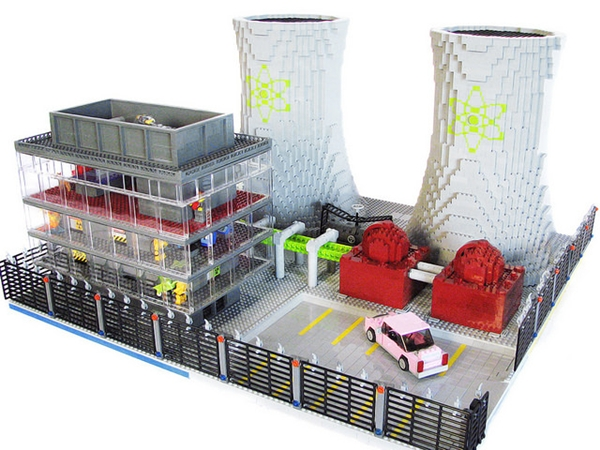 A Spectacular Lego Model Of The Town Of Springfield From