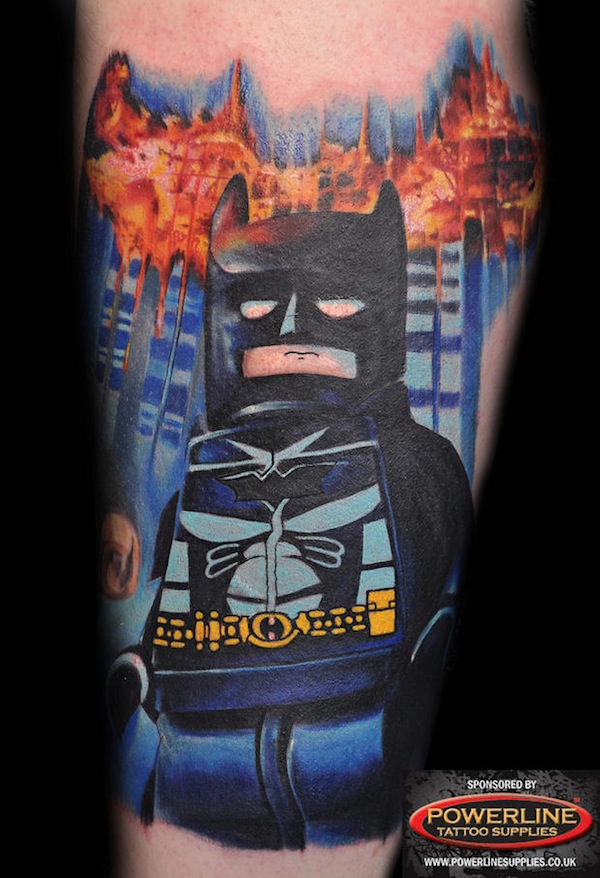 awesome lego tattoos of minifigs depicted as batman and other pop culture icons. Black Bedroom Furniture Sets. Home Design Ideas