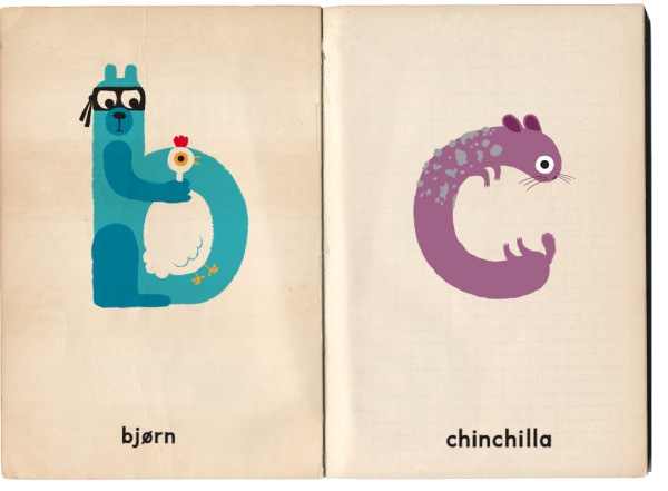 Character Design Letter : An adorable typeface that imagines quirky animal