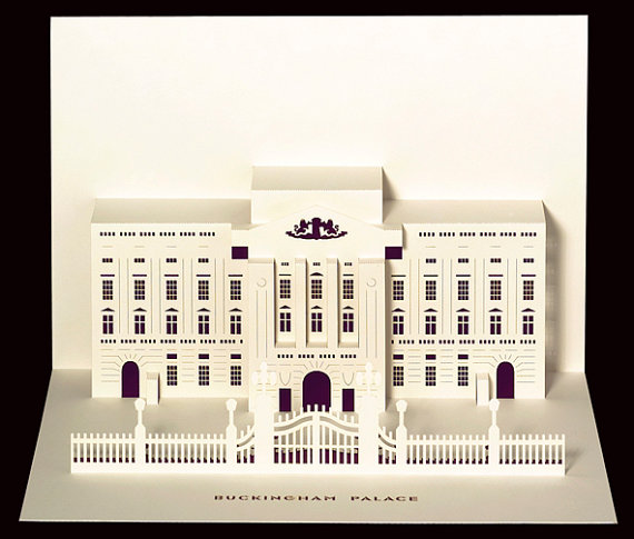 beautiful paper-cut  pop-up cards of london u2019s famous landmarks