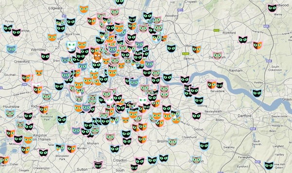 London Zoo Creates A Map Of Cats Designtaxi Com