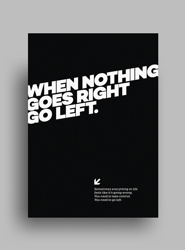 Striking minimalist black white posters featuring Minimalist typography