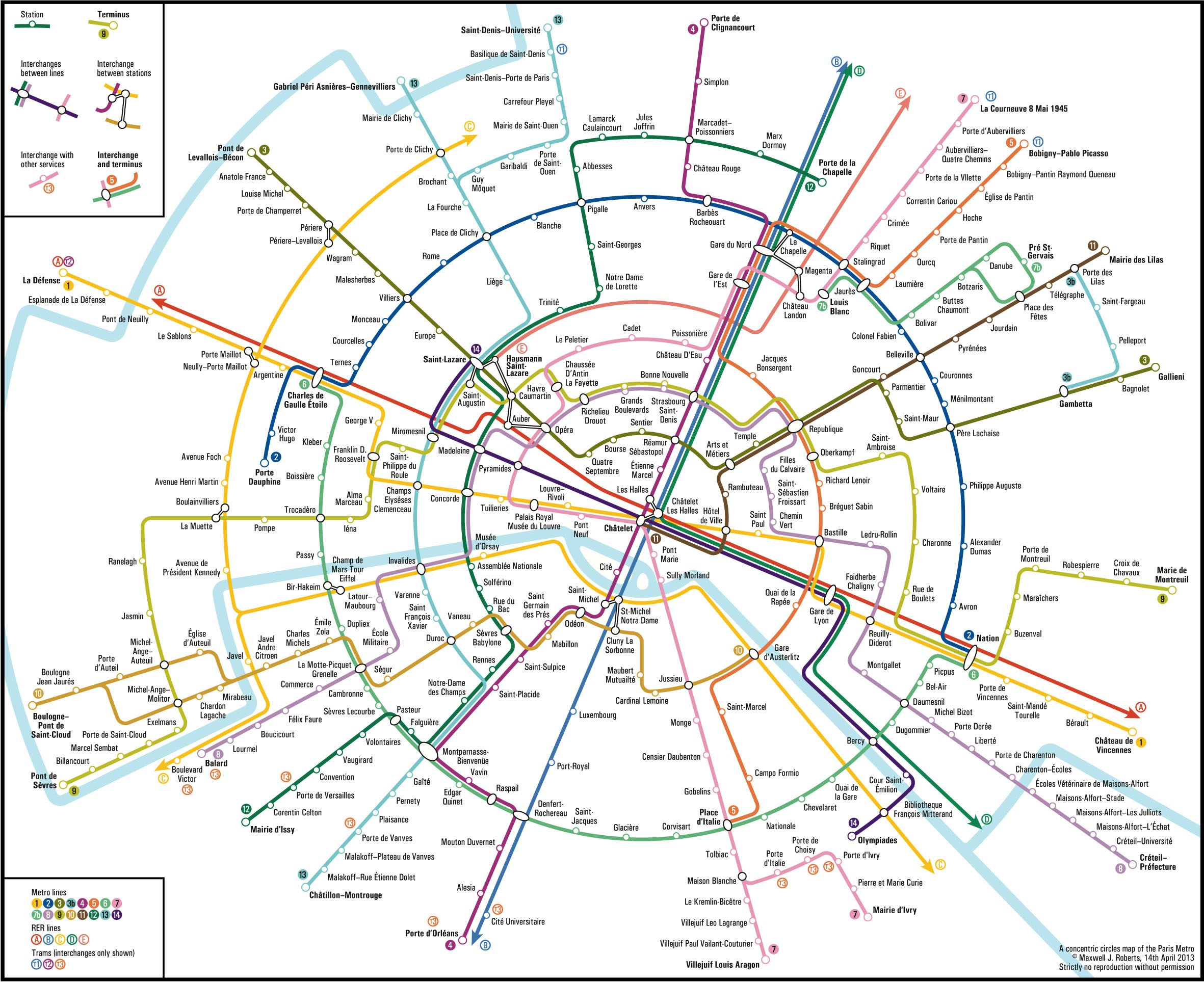 Circular Subway Map