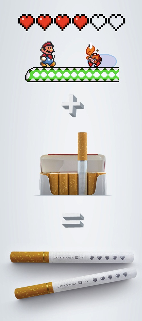 Designer Adds A Mario Element On Cigarettes Designtaxi Com
