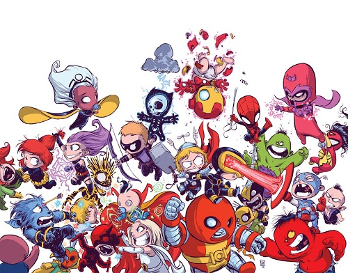 Chibi Marvel Heroes http://designtaxi.com/news/353480/Cartoonist-Reimagines-Marvel-s-Mightiest-Superheroes-as-Babies/