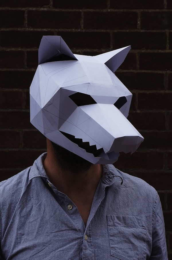 For Halloween Brilliant 3D Masks Made With Cardboards And Simple