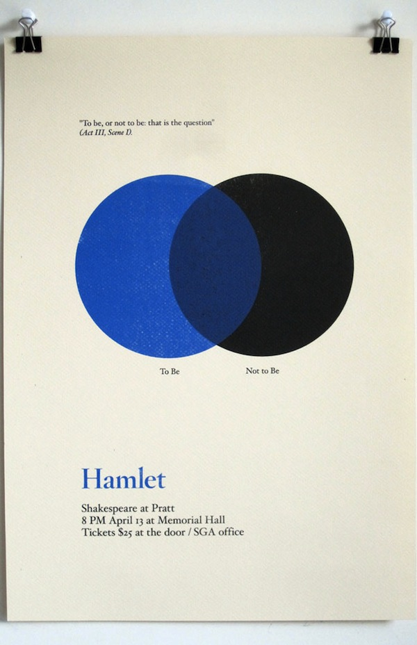 three famous shakespeare quotes as minimalistic diagrams