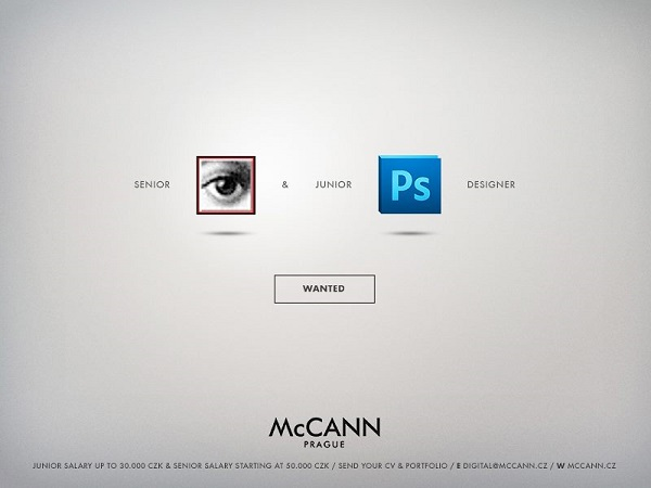 Ad Agency's Job Ads Creatively Use Graphic Design Symbols Icons