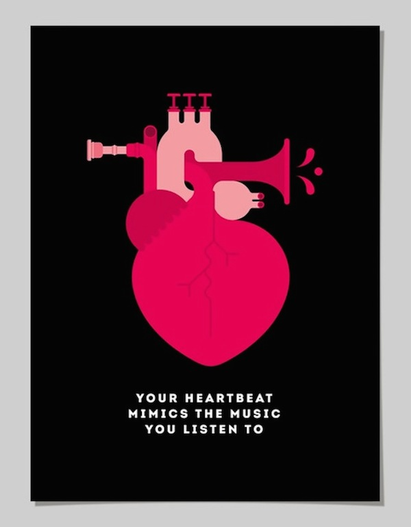 Discovery Channel Shows >> Learn Fun Facts About Your Body From These Bold, Clever Graphic Posters - DesignTAXI.com