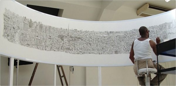 Incredibly detailed drawings of panoramic cityscapes made for Cool detailed drawings