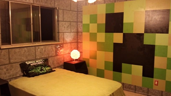 Creative Parents Surprise Children With Minecraft Themed Bedrooms