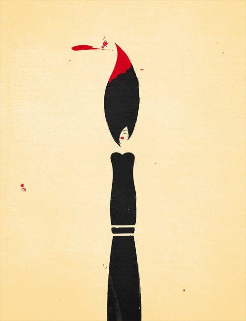 Clever minimalist illustrations of abstract concepts and for Illustration minimaliste