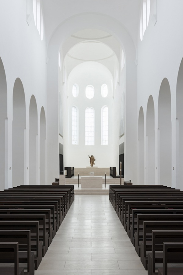 A church gets a minimalistic redesign for Interior design augsburg