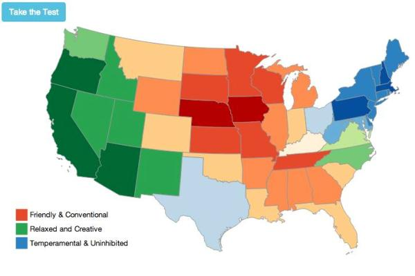 A Map Of The Us That Shows You Where You Should Live Based On Your