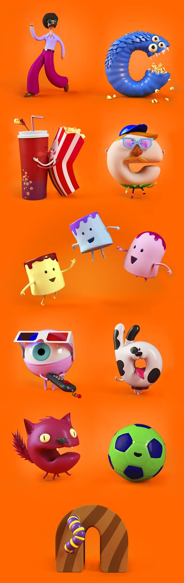 Graphics Studio Creates Cute Alphabet Cartoon Characters