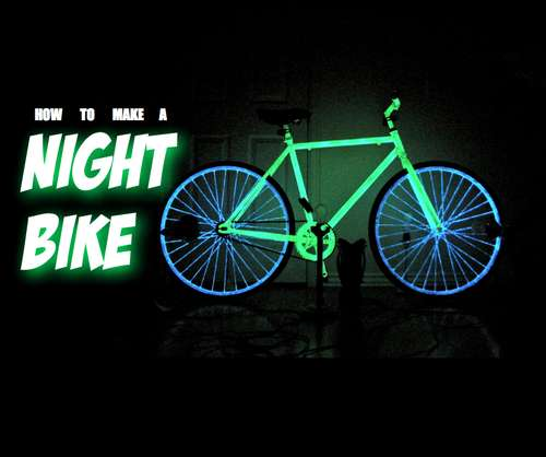 how to make your bike glowinthedark for safer night