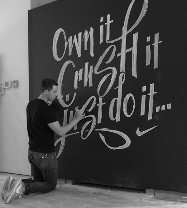 Chalk Murals In A Nike Pop-Up Store That Is Filled With Energetic ...