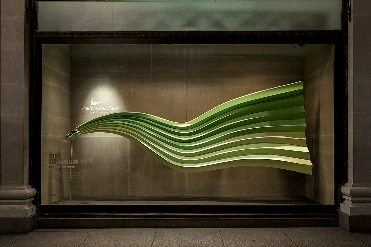 wonderful nike window displays that interact with passers