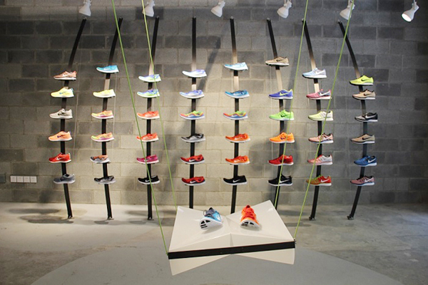 In China, A Nike Concept Store Made Out Of Trash