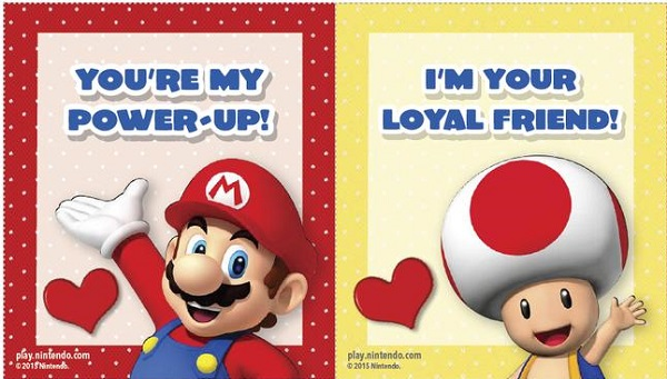 Cute Friendzoning Cards For Valentines Day Featuring Nintendo – Mario Valentines Cards