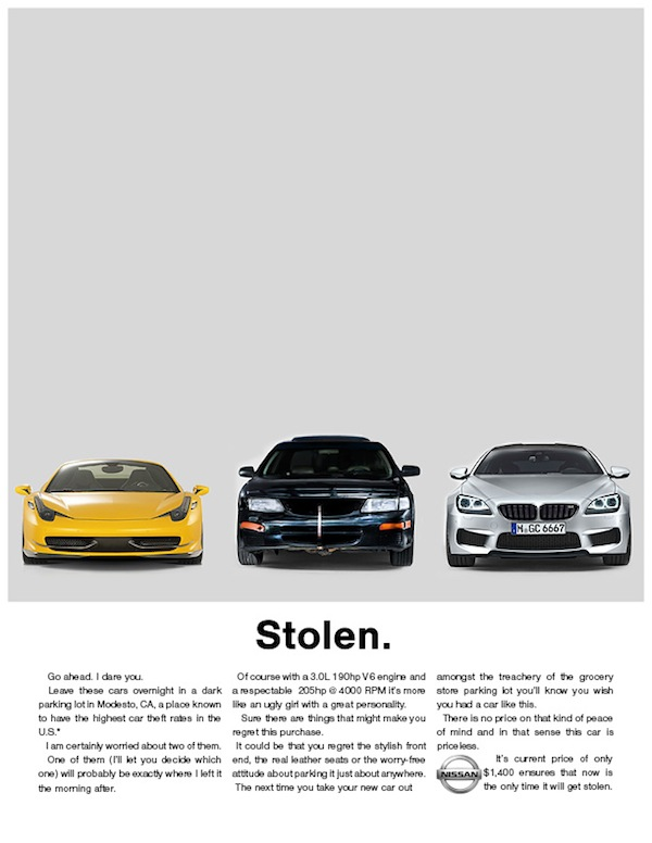 Liam Thinks Ad For A Secondhand Car Spoofs The Typical Luxury Car Ad