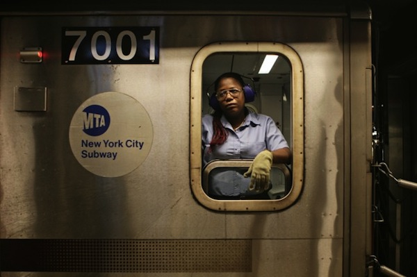 Wistful Shots Of NYC Subway Conductors Looking Out Of Train Windows