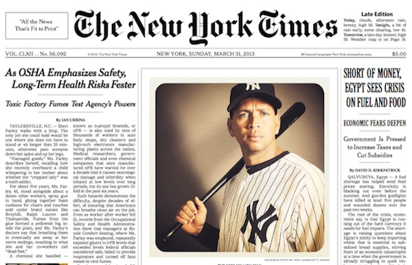The New York Times' Runs An Instagram Photo On Front Page ...