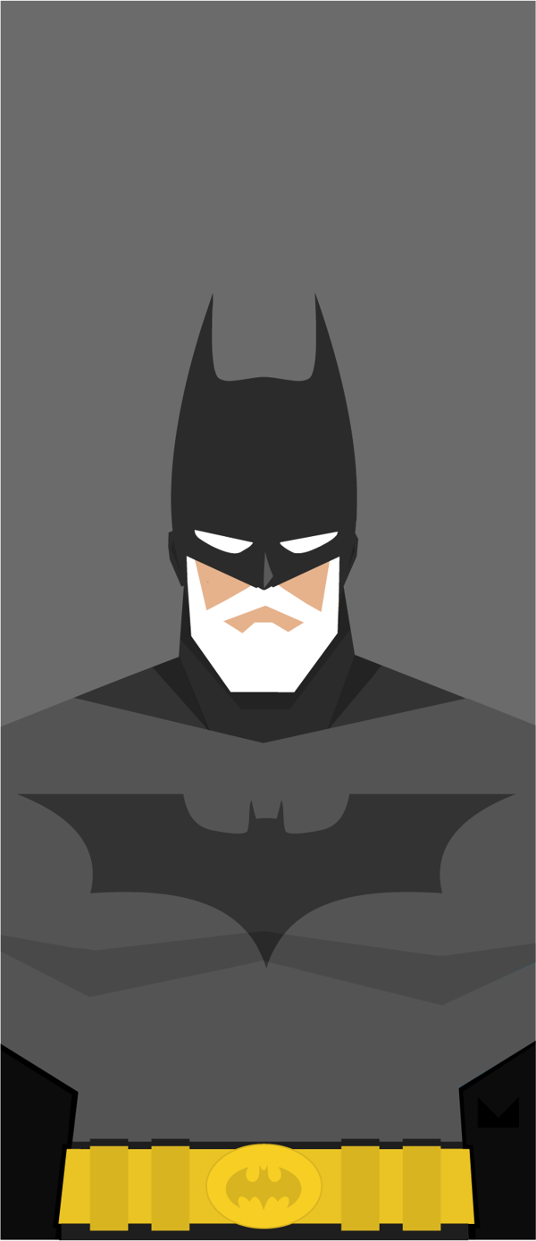 In Minimalist Illustrations, Superheroes Gone Old