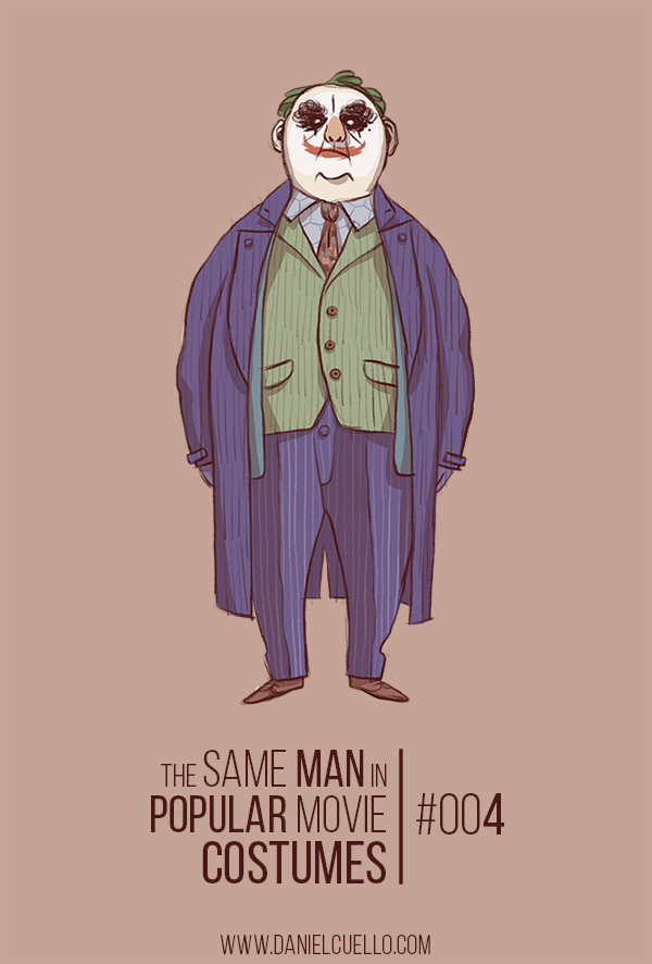 Witty Illustrations Of A Chubby Old Man Dressed As Popular Movie Characters